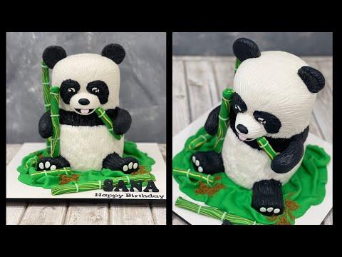Как создать 3д торт в виде панды