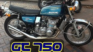 A MOTO 2 TEMPOS DE MAIOR CC QUE EXISTE NO BRASIL - SUZUKI GT 750 - 2 STROKE POWER