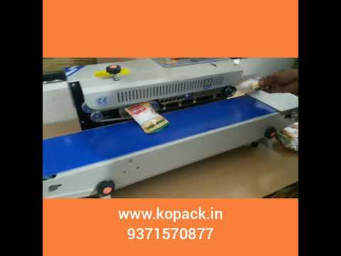 Horizontal Continuous Band Sealer Machine