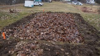 Preparing your garden for spring, ready for tilling and planting.