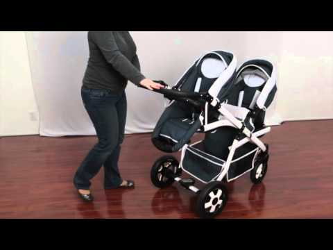 Euro-Baby Onyx Tandem double stroller
