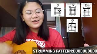 12:51 Guitar Tutorial || TAGALOG || Easy Chords