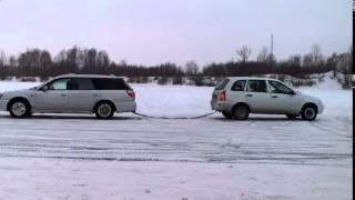 Калина рвет Subaru