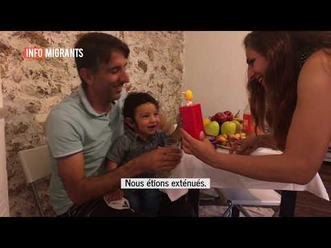Vahid Lotfi, sa femme Elaheh et leurs enfants en bas-âge ont quitté l'Iran fin 2017