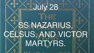 SS NAZARIUS, CELCUS, AND VICTOR, MARTYRS, AND SAINT INNOCENT, CONFESSOR