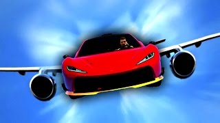 MY CAR GREW WINGS AND FLEW! (GTA 5 Funny Moments)