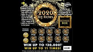 $2 - 2020 BIG RICHES! FLORIDA Lottery! Lottery Scratch Off instant win tickets!