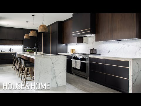 House Tour: Luxe Dark & Modern Kitchen