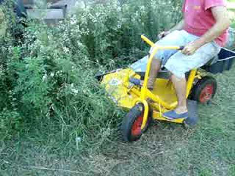 Mini tractor corta cesped modelo 900 ALSER ANCA parte 2