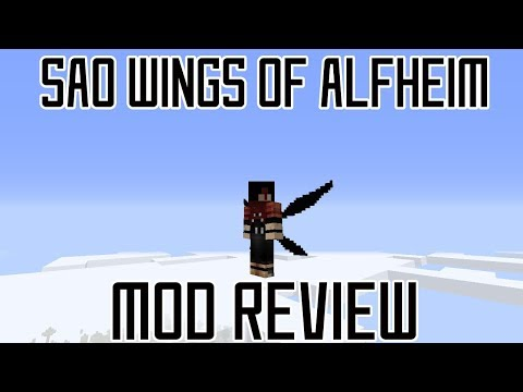 SAO ALFHEIM WINGS IN MINECRAFT! || Minecraft The Wings of Alfheim Mod Review