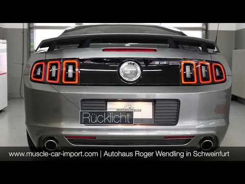 Rücklichter EU Umbau Conversion Ford Mustang GT 2013 2014 sequenzielle Blinker
