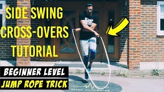 THE BEST BEGINNER JUMP ROPE TRICK? SIDE SWING CROSSOVERS   by Rush Athletics
