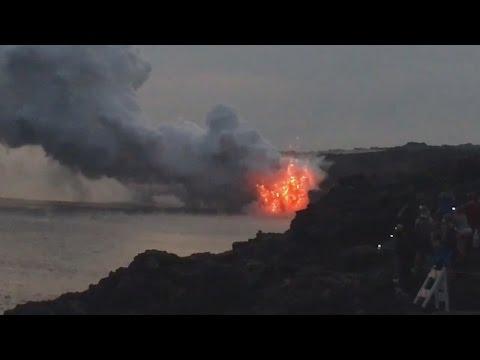 Video Huge Lava Delta Collapse In Hawaii (Dec. 31, 2016)