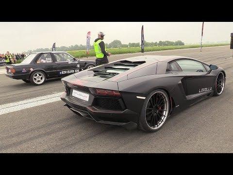 725HP BMW 325i E30 Turbo vs Lamborghini Aventador LP700-4