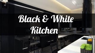 25+ Black And White Kitchen Design Ideas