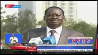 Mgombea urais kwa muungano wa NASA Raila Odinga akashifu chama cha Jubilee