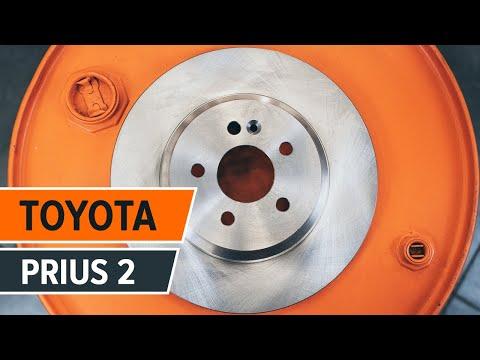 Como reemplazar los discos de freno y las almohadillas de freno delanteros de TOYOTA PRIUS 2