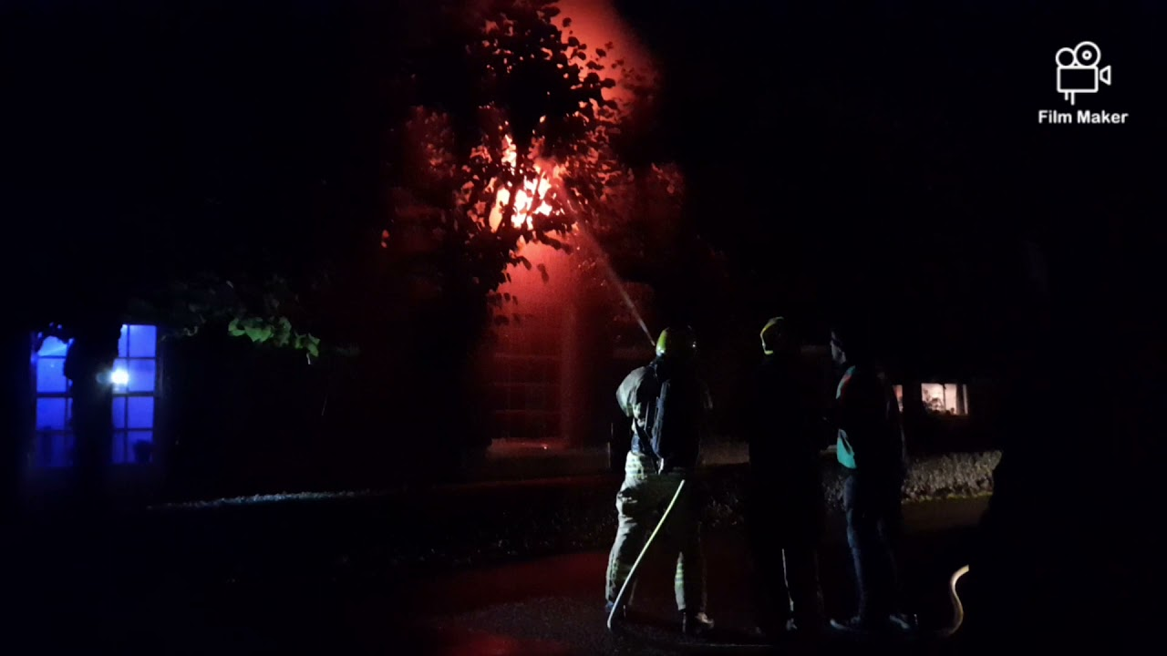 grote brand met veel slachtoffers tijdens brandweer oefening in giesenburg