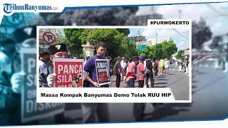 Massa Koalisi Masyarakat Pancasila Anti Komunis (Kompak) Banyumas Demo Tolak RUU HIP