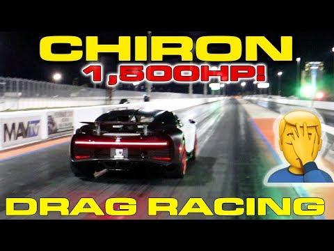 bugatti chiron hits the drag strip, drops 9s 1/4-mile run