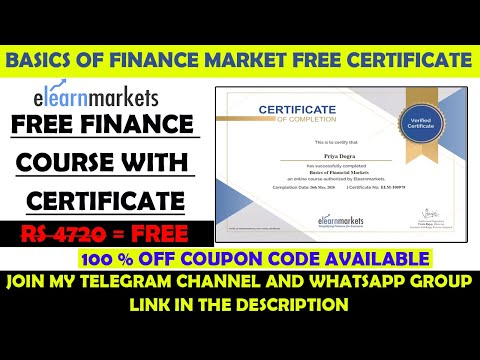 Basics of Financial Market Free Course with Free Certificate ...
