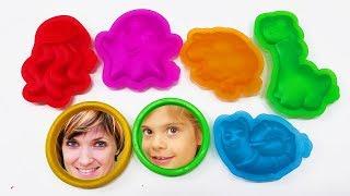 Видео для детей. Веселая Школа. Изучаем Play Doh Touch.