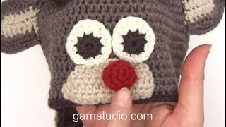 How To Crochet The Reindeer Nose In DROPS Extra 0-1049