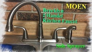 How To Install A  Moen Kitchen Faucet With Side Sprayer