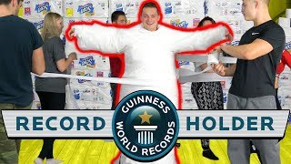 LARGEST TOILET PAPER MUMMY EVER! *WORLD RECORD*
