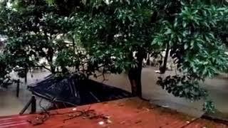 Atrapados en los techos en Los Amates, Izabal