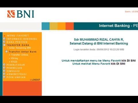 Cara Hapus daftar Transfer bni Internet Banking