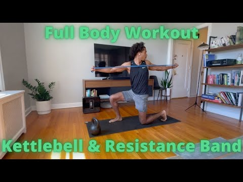 Workout video for  Full Body Home Workout - Kettlebell & Resistance Band