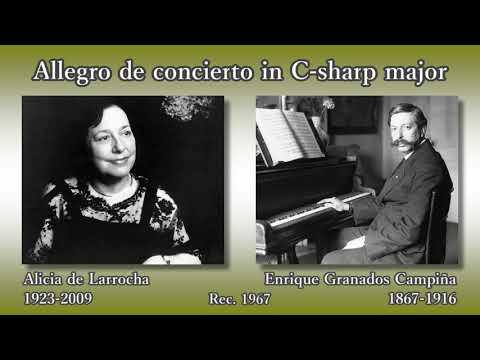 Granados: Allegro de concierto, de Larrocha (1967) グラナドス 演奏会用アレグロ デ・ラローチャ