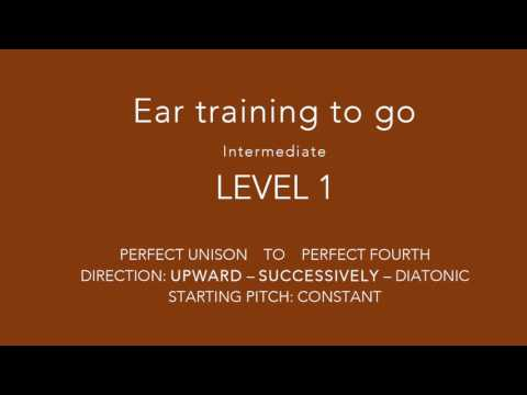 NEW!!! Special ear training - Interval training on the go