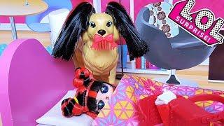 УТРО НОВОЙ КУКЛЫ ЛОЛ СЮРПРИЗ И ЕЕ СОБАКИ Мультики с куклами для детей