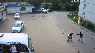 Драка с водителем маршрутки / A fight with the bus driver