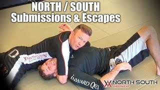 Subs & Escapes From North South Position | Jiu Jitsu Subs & Escapes