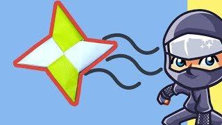 Como Fazer uma Estrela Ninja de Papel | Origami Shuriken