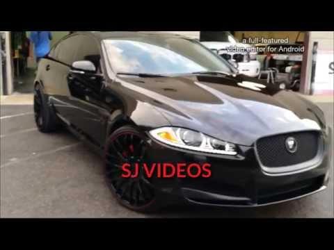 Triple black 2013 Jaguar XF on 22 inch TIS 537MB's by Sik Whips Customs Orlando