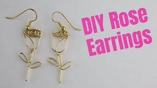 DIY Long Stem Rose Earrings Tutorial // Day 8 Of The 10-Day Wire Earring Making Challenge