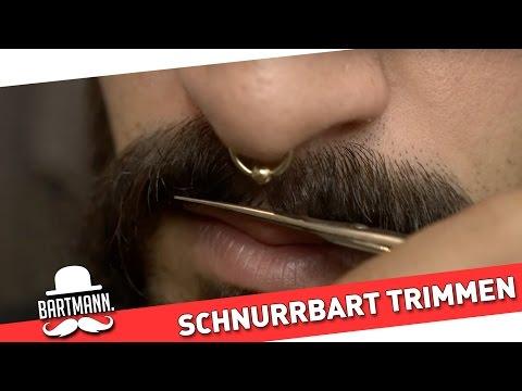 Schnurrbart trimmen, schneiden und stylen - How To by BARTMANN