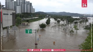 Heavy rains trigger flooding along Seoul's Han river