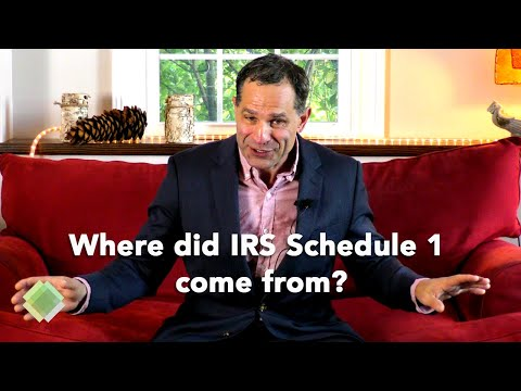 IRS Schedule 1: The new shell game that may only confuse you.