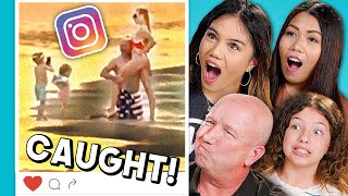 Teens & Parents React To Instagram Models CAUGHT In The Wild