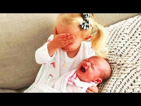 Adorable Moments of Kids Seeing Babies for the First Time