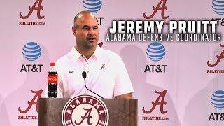 Watch Alabama defensive coordinator Jeremy Pruitt address the press at Media Day