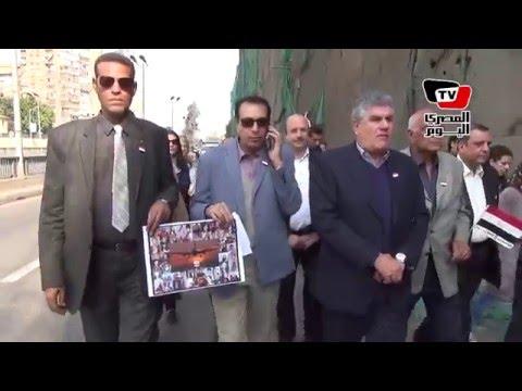 «عبد الناصر» و«قلاش» يشاركان بمسيرة في أربعين «حادث الطائرة الروسية»