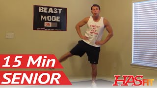 15 Minute Senior Workout - HASfit's Low Impact Workout - Senior Exercises - Exercise for Elderly by HASfit