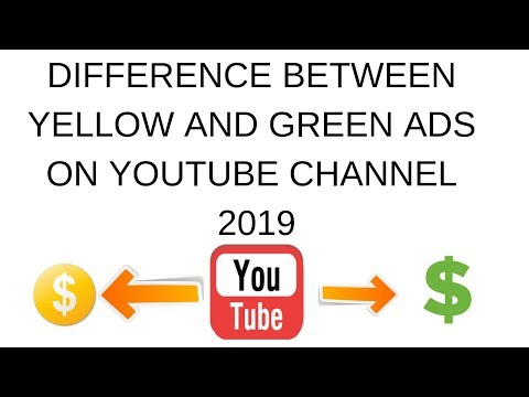 Difference between yellow and green ads on youtube channel 2019