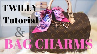 LOUIS VUITTON BAG CHARMS & HERMES TWILLY TUTORIAL | How To Style | New Film Set Up | Roxstud Diaries